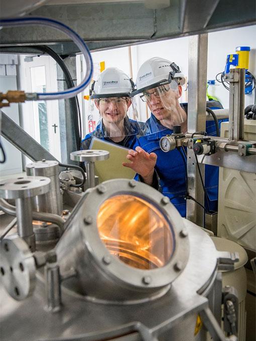 Zentrifuge im Labor zur Untersuchung von Klärschlamm